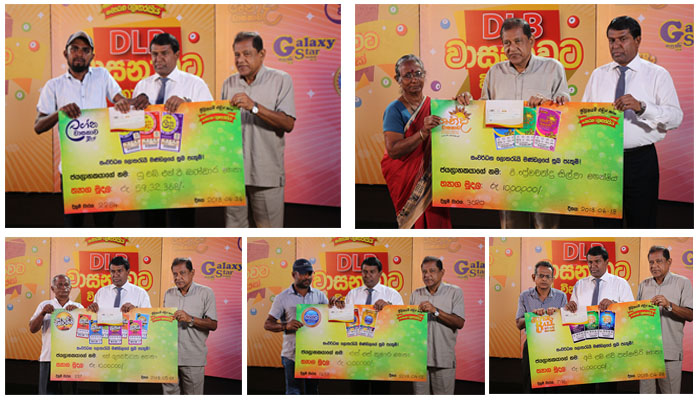 Cash prizes for the winner of the super jackpot of Lagna Wasana and 21 other winners.