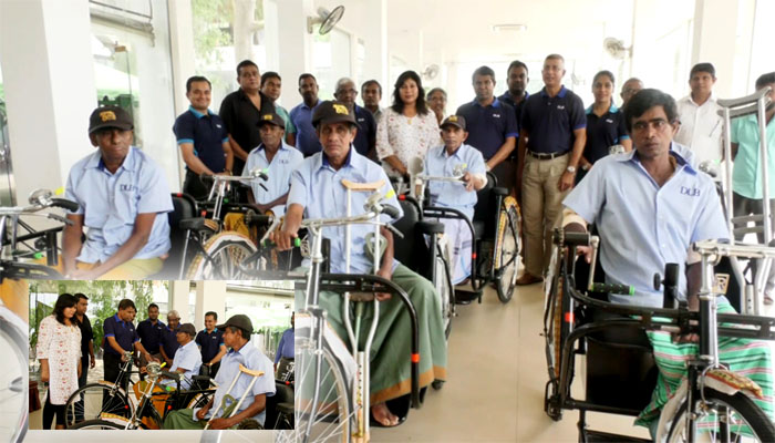 DLB grants tricycles to differently abled Sales Assistants in Kurunegala District