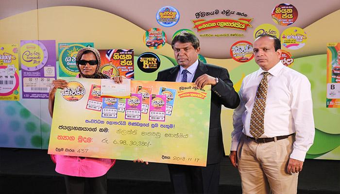 The lucky winner of the super jackpot over Rs. 60 million from Dodanduwa