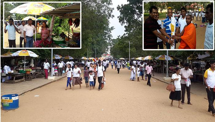 Relief from DLB to the vendors on either sides of the road  at Katharagama Devala