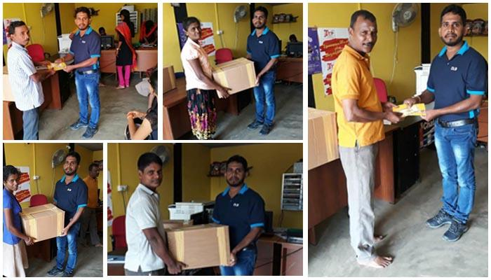 Helping hand to the Sales Agents and Sales Assistants affected by the flood in Northern Province  and East