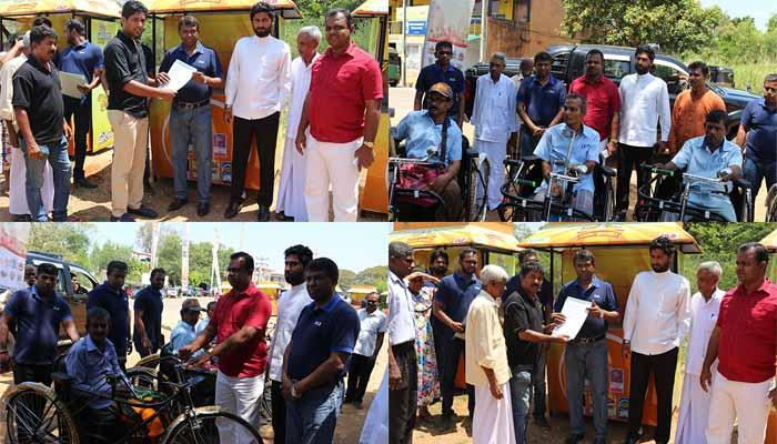 Another phase of the programme for distribution of sales outlets and tricycles at Dambulla.