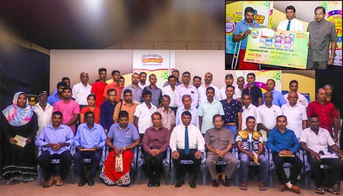 Forty Five lucky winners along with super winners of Ada Kotipathi and Lagna Wasana receive their prizes from DLB