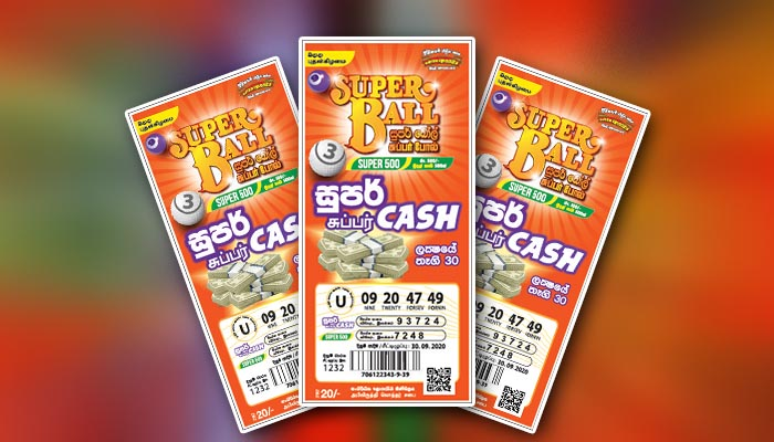 Special draw of Super Ball 'Super cash' on 30 September